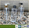 250ml transparent PET bottle with pump sprayer empty plastic pet bottle made in China