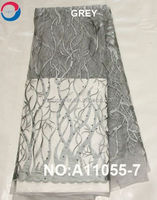 2015 New embroidery design french lace fabric / tulle lace french net lace fabric for nigeria parties