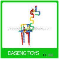 Assemble Blplastic pipe connect blocks toys Plastic ABS pipe Blocks toys