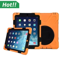 Silicone Hard Case + Stand for ipad mini 2 / 3/ 4 Retina 7.9 Inches For Tough Armor Extreme Shockproof Protective Cover