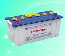 High Performence 12V 105AH Shinestar Brand&OEM Car Starter Lead Acid DIN Dry Battery -60525