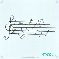 Abstract musical note art wall hanging and craft in living room