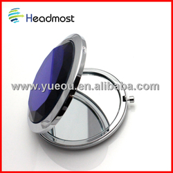 motorcycle convex mirror Plastic professional cosmetic mirror/makeup mirror/pocket mirror
