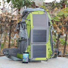 Hot selling Canvas solar powered backpack for hiking/camping