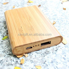 universal larger capacity wooden or bamboo portable mobile power bank/mobile power supply