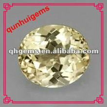 2012 Fashion Oval Shape Yellow Topaz Gemstones
