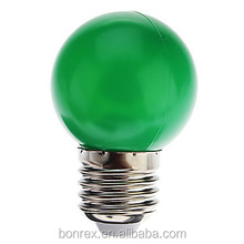 E27 0.5W 7-LED Green Light LED small ball Bulb (220V) for Decorative