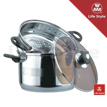 3pcs food stainless steel cookware steamer set