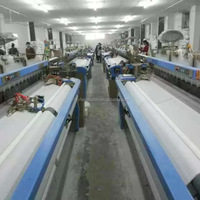 190cm 2/4 color air jet power loom weaving machine with tuck-in device & crank shedding