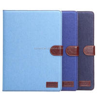 For iPad Air 2 Case Wallet Jeans Skin Cover