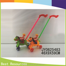 2015 hot sale! high quality cartoon animal push pull toy push horse toys made in China