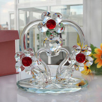 Clear crystal glass gifts wedding decorations & souvenir gifts with high quality
