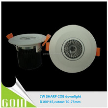 7W adjustable sharp led cob downlight SAA Dimmable 7W recessed ceiling downlight with 75mm cutout