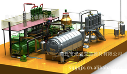 International joint venture Annual process capacity 1500 tons Continuous used engine oil recycling plant machine