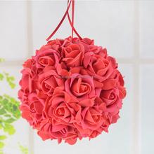 Espuma kissing decorativa bolas de espuma de poliestireno con flores