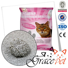 Small round granule bentonite cat litter sand economic