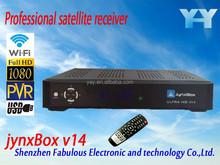 hd set top box full youtube movies adult channel digital satellite receiver jb200 module turbo 8psk jynxbox v14