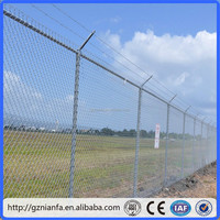 galvanzied barbed wire chain link fence(guangzhou factory )