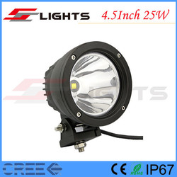 New IP67 4*4 4.5 Inch Round Cree 25W LED Tuning Warning Light