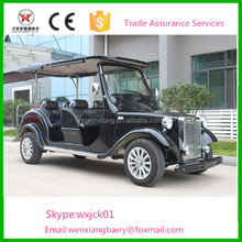 Black color 6 seats electric classic car