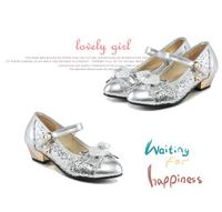 W60309V 2015 autumn girls formal shoes dance club shoes leather sole girls dancing shoe