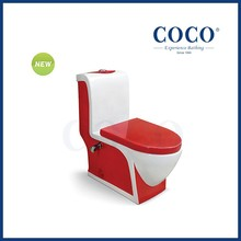 Double colored toilet bowl ceramic sitting wc water closet