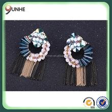 Handmade crystal glass tassel earring fashion accessories wholesale