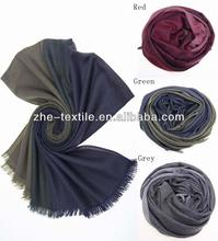 100% cashmere double layer woven scarf