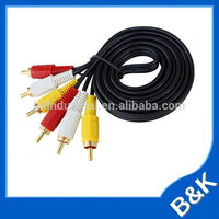 Hungary 1.5m Video 3RCA 3.5mm rca AV Cable on promote