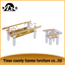 corner table design factory directly produce and sale glass table 1+2