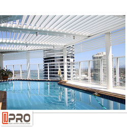 Outdoor living spaces aluminium roof matal louvre roof