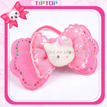Bow Hair Jacquard Elastic with Hello Kitty Charm
