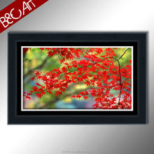 Mural canvas print beautiful home decoration red leaves oil painting