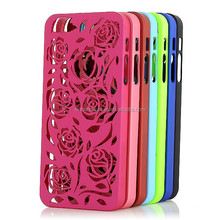 Rose Flower Hollow PC Phone Case For IPhone 5S