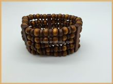 new cheap handmade men's wood beads bangles bracelets jewelry