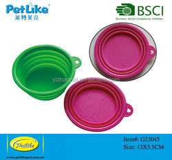 2015 new products in China collapsible travel dog bowl,expandable travel dog bowl,food and water dog travel bowl