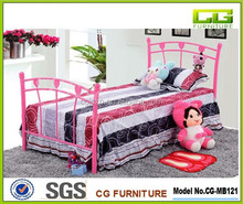 Top pink children metal frame bed
