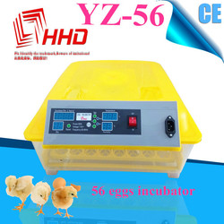 High quality YZ-56 fully automatic small egg incubator lahore pakistan