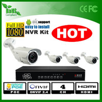 security system cctv system 720p 4ch nvr kits outdoor IP camera IP66 low price