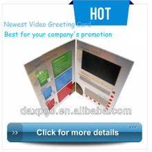 LCD Video Greeting Card,Voice Recording Greeting Card With LCD for Promotion Gift