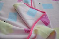 polar fleece baby blanket with satin hem