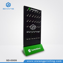 POS Cardboard Hook Display Stands For Cell Phone Accessories