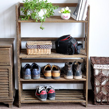 home life wood 4-tier shoes storage racks ,plant display shelf