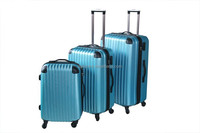 ABS hot sell stripe trolley luggage