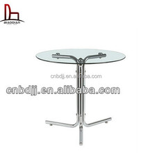 clear glass top high quality China dining tables in good taste