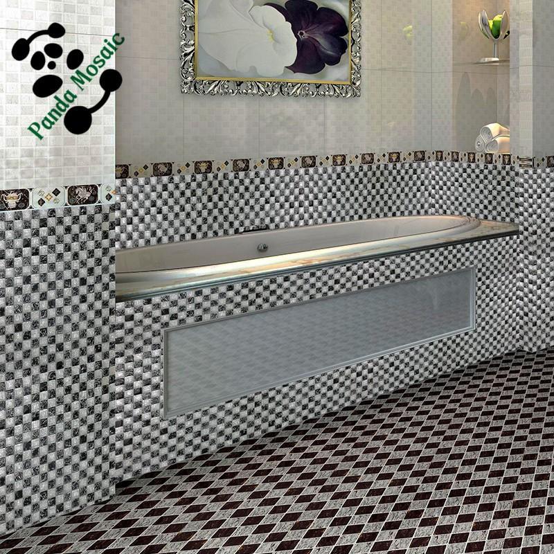 Witte Mozaiek Badkamer ~   glasmoza?ek badkamer tegel zwart en witte gebarsten moza?ek tegel