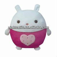 Funny sweet stuffed plush rabbit toy with ball shape