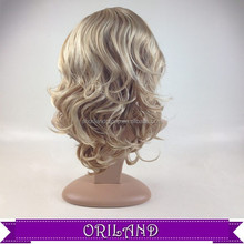 wholesale top half hand made wig cheap synthetic wigs