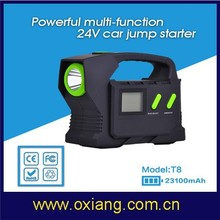 24V high capacity multi-functional car jump starter OX-T8 for car/phone/camera/GPS/ laptop