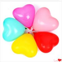 2015 heart shaped latex balloon for wedding decoration